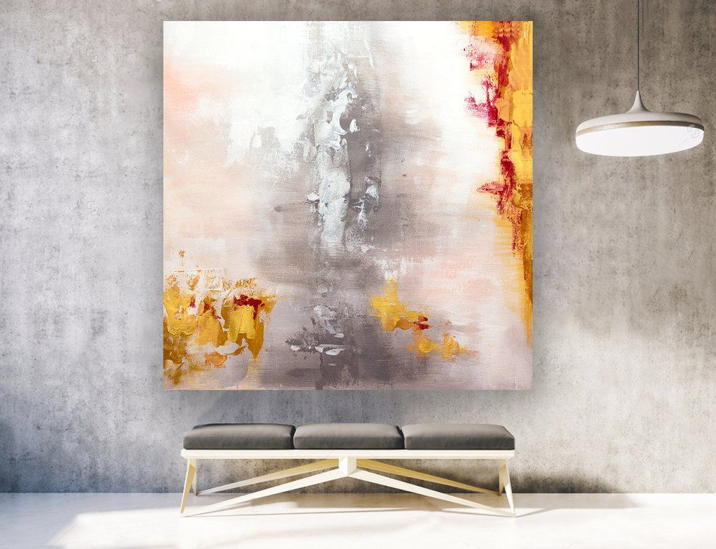 Large abstract art on canvas square laa abstractart