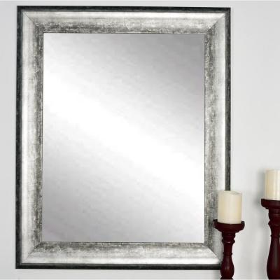 Home Decorators Collection 24 In W X 35 In L Framed Fog Free Wall Mirror In Silver 81159 The Home Depot Mirror Wall Silver Wall Mirror Framed Mirror Wall