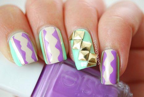 Pastel Nail Art. How to create pastel color nail art: http://couponsfantasy.com/fun-art-on-pretty-pastel-nails/
