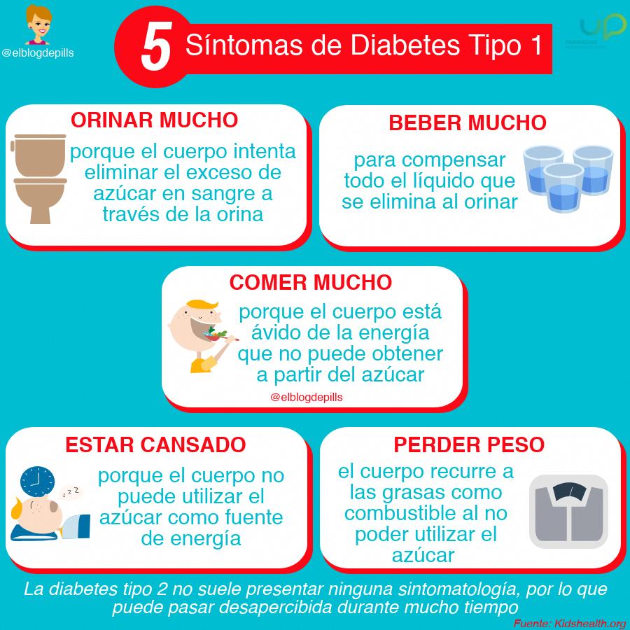 la diabetes tipo 1 puede pasar desapercibida