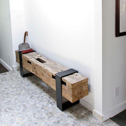 - Bancos de madera para interior ...