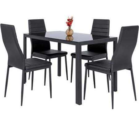 Dinette Sets For Small Es Dinning Room Table Set Five Piece Black Leather With Glass Top Rectangle Dining Bring Classic Beauty To Your