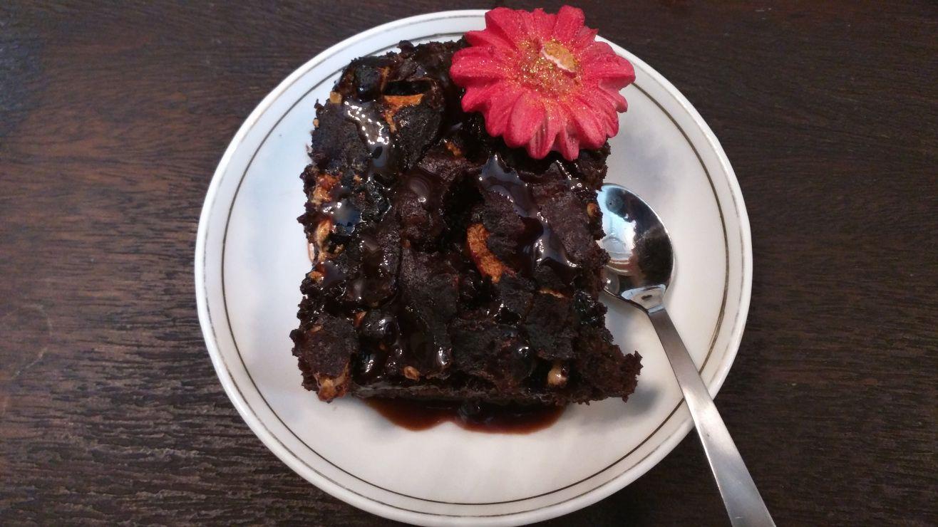 Yummy naked brownie