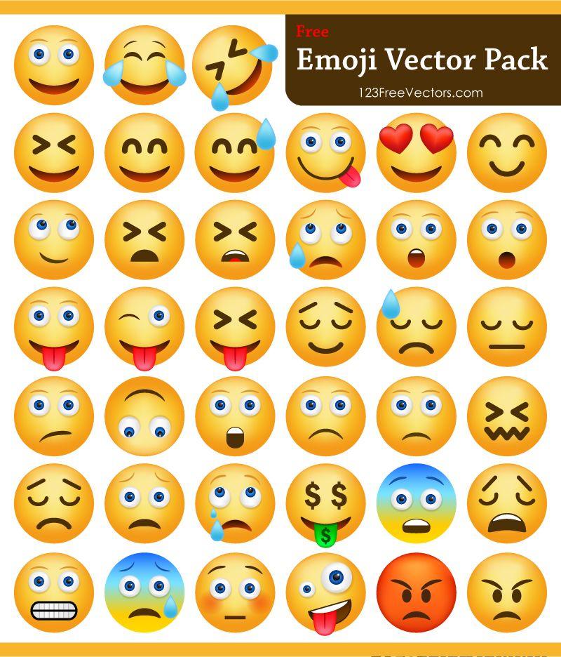 Download Emoji Pack Free Vector Graphics Emoji Vector Free