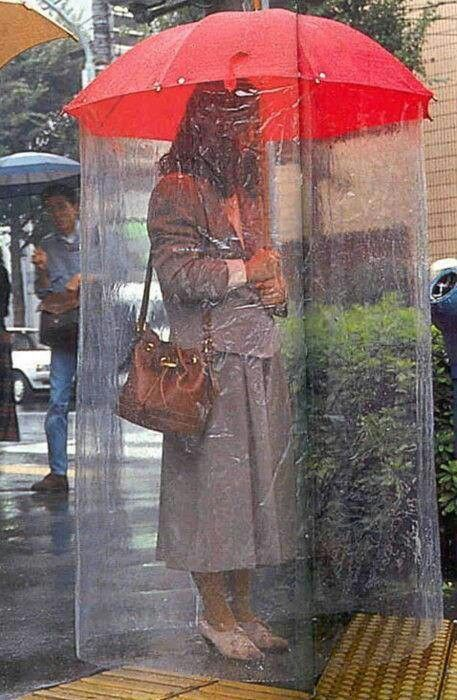 Umbrella Rain Curtains Stunning Place Weird