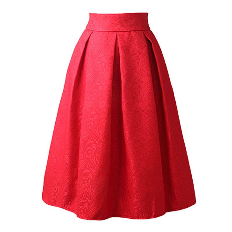 Falda de talle alto vintage
