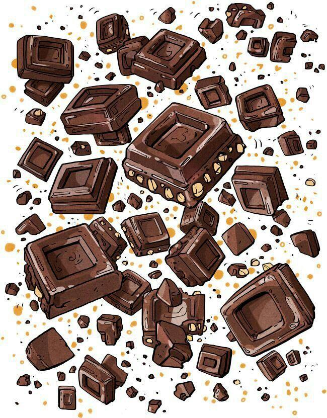 рисунок шоколадки экологически