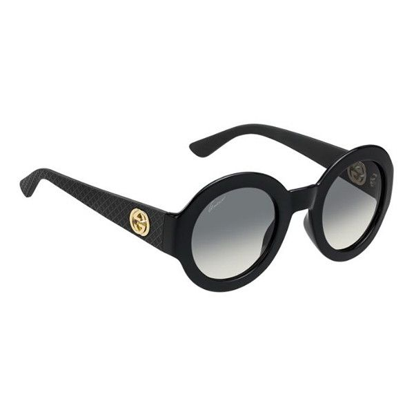 Gucci GG 3788 S LWD DX Sunglasses ( 150) ❤ liked on Polyvore featuring  accessories, eyewear, sunglasses, black, gucci, gucci glasses, gucci  sunglasses, ... ebefc507f866