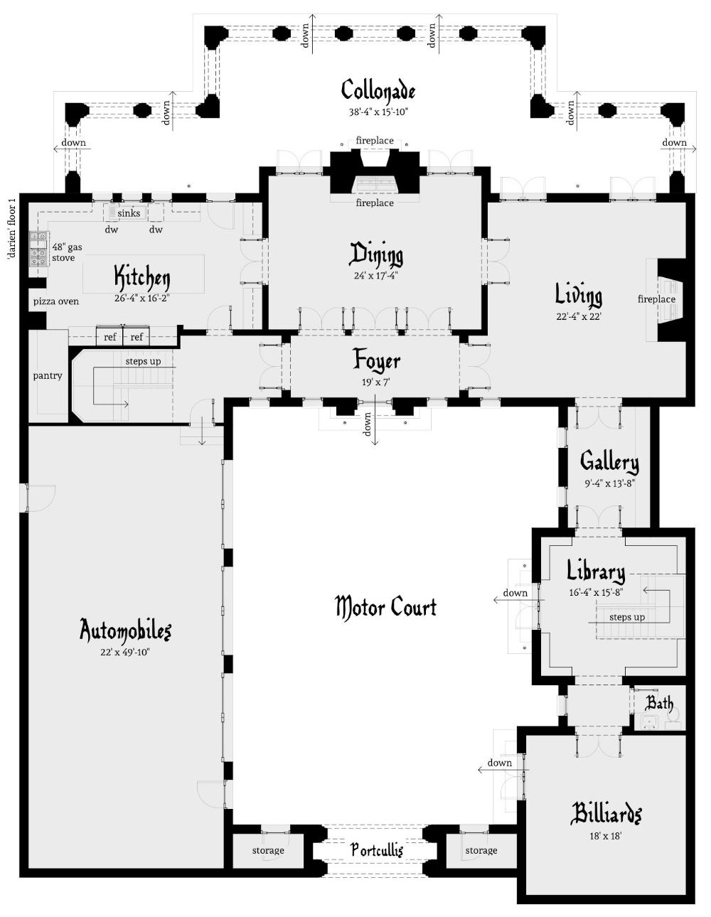 Gated Castle Tower Home 5 Bedrooms Tyree House Plans In 2020 Castle House Plans Castle Plans House Plans