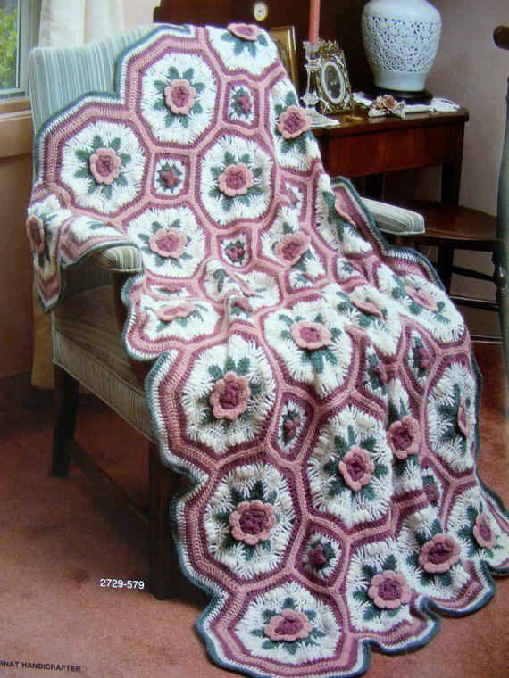 Bernat Afghan Heirlooms to Knit and Crochet Vintage 1986 Patterns ...