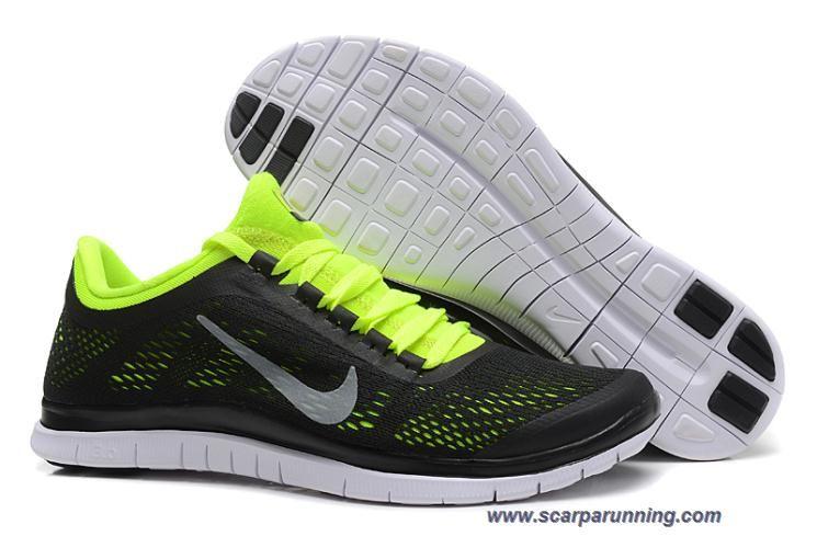 siti scarpe Uomo Nero Fluorescence Verde Nike Free 3.0 V5 580393-018  acquisti on line