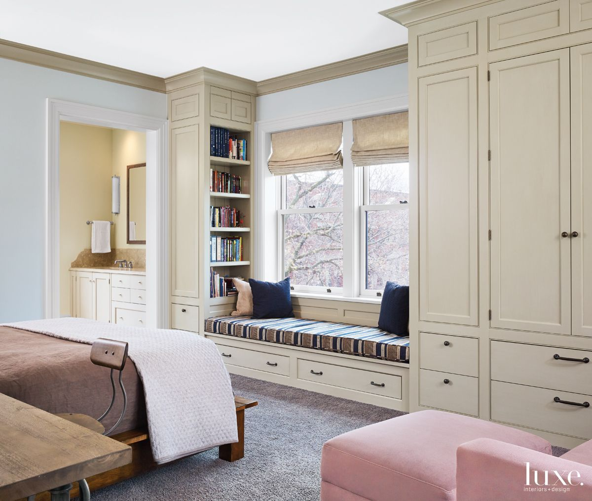 Window Wardrobe: This Son's Bedroom Includes Custom Cabinetry—designed By