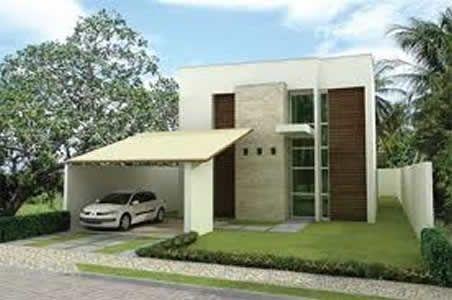 fotos de fachadas de casas modernas e pequenas