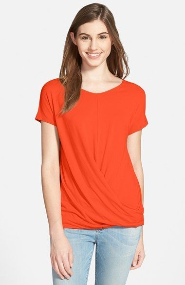 Vince+Camuto+V-Neck+Drape+Front+Top+available+at+#Nordstrom