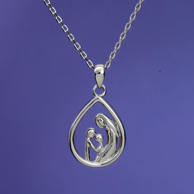 Mother & Two Children - $26.99 Mother And Child Sterling Pendant Necklace -  See more at: http:/… | Sterling pendant, Sterling silver pendants, Mother  child necklace