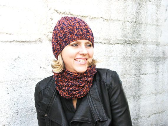 Set of Basic Beenie Hat and Infinity Scarf  Hand от HatsByNataly