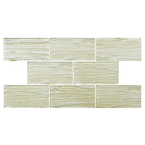 "Found it at Wayfair - Timber Glass 3"" x 6"" Glass Subway Tile in Cream"