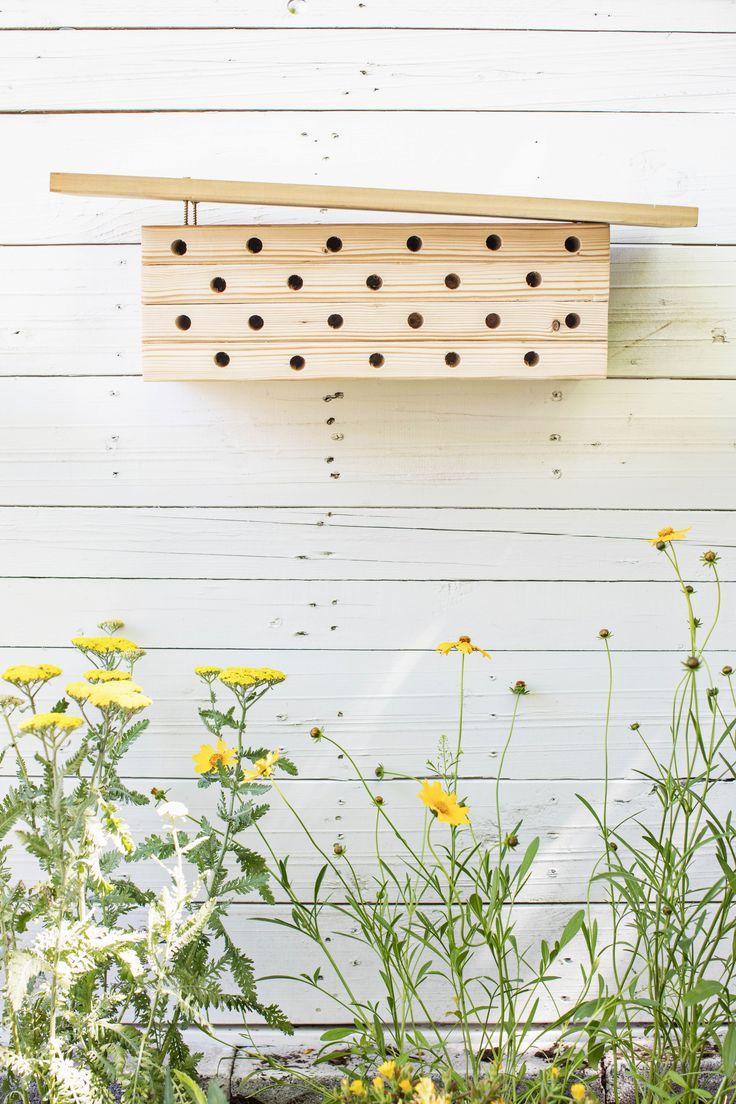 Modern Mason Bee House DIY - A Beautiful Mess | Mason bee house diy, Mason bee  house, Bee house