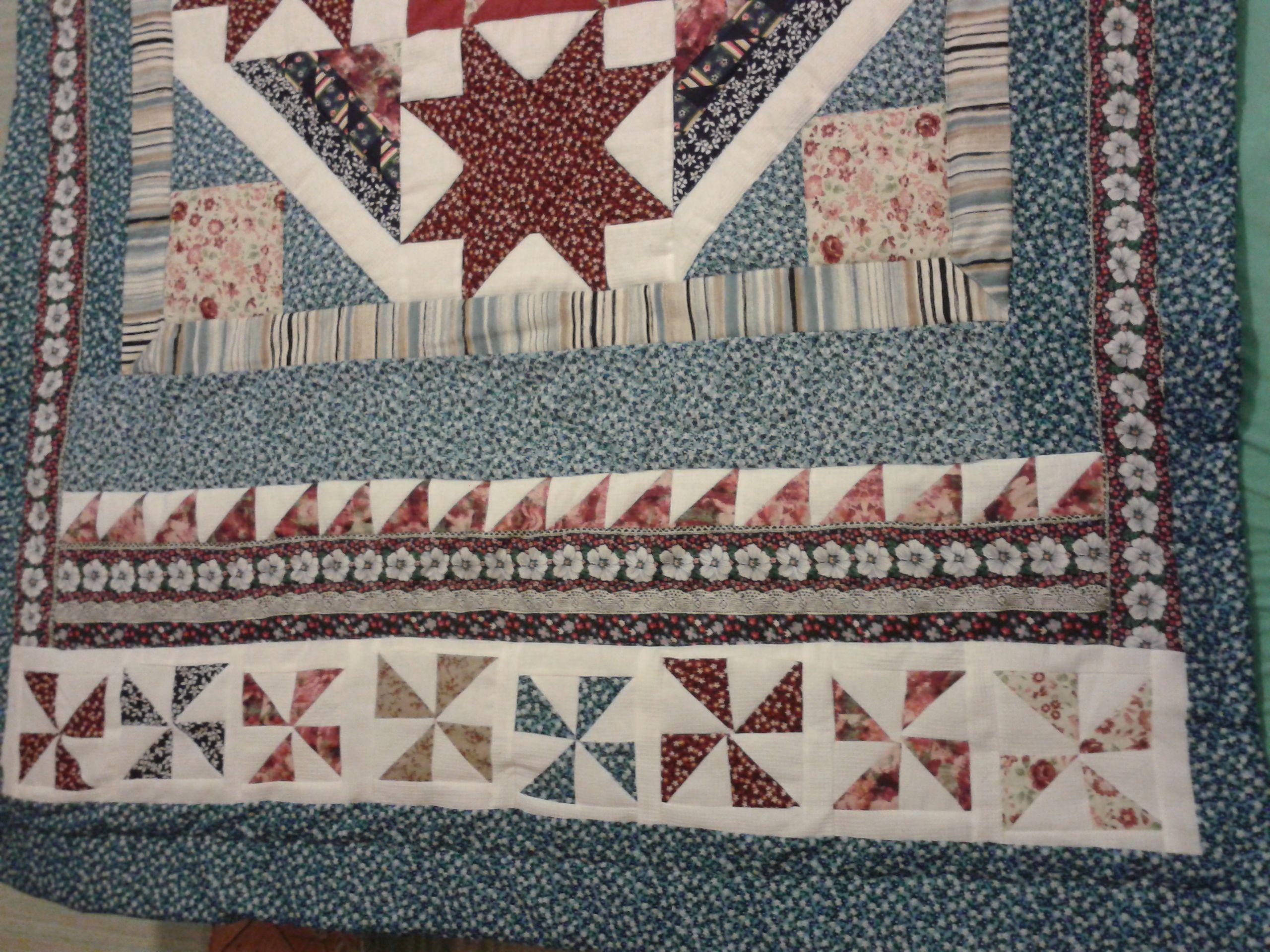 Modročerveny patchwork