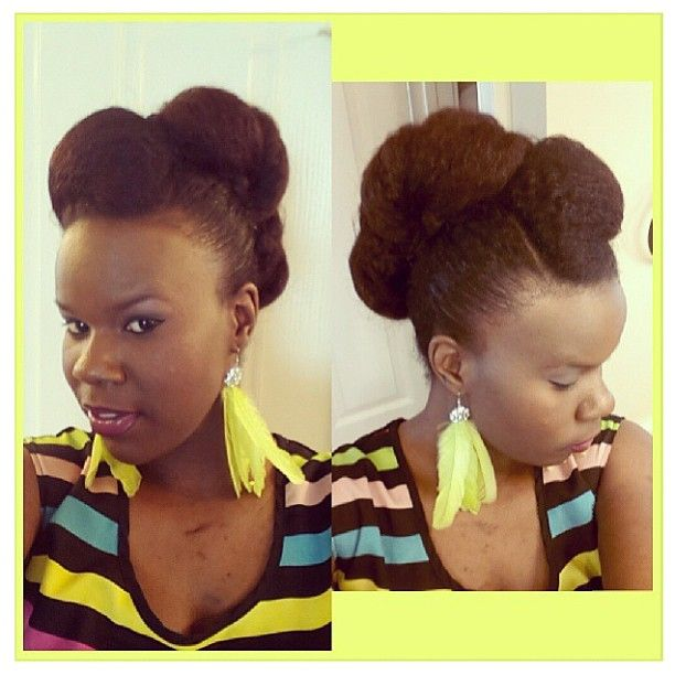 Natural African American Hairstyles Enchanting Nice Rolled Updo  Precious Henshaw's Blog  Africanamerican