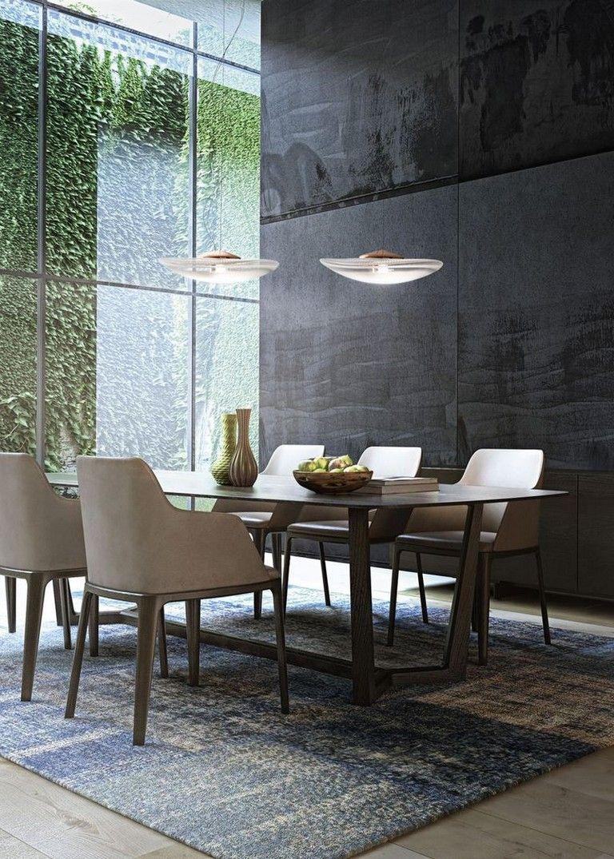 95 Amazing Stylish Glass Wall Living Room Decor Ideas Modern Dining Room Dining Room Decor Modern Dining Room Decor