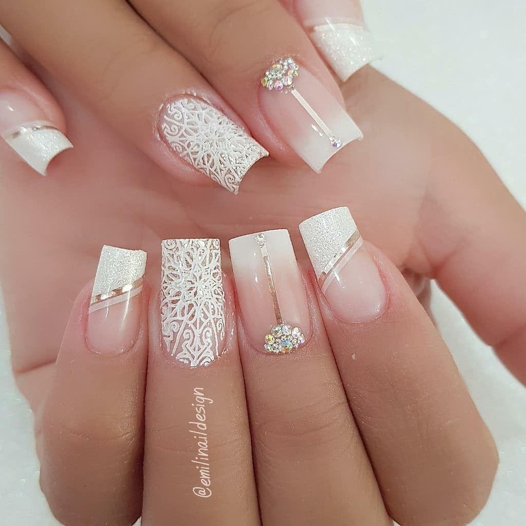 Curso profissionalizante de manicure.   Bride nails, Bridal nail ...