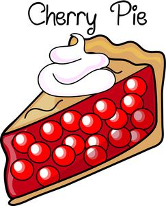 Dessert Clipart Image: Fresh Baked Cherry Pie with Whipped ...