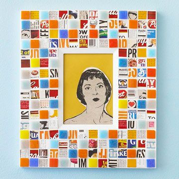 Mosaic Wall Art. Gather product packaging from the recycling bin and ...