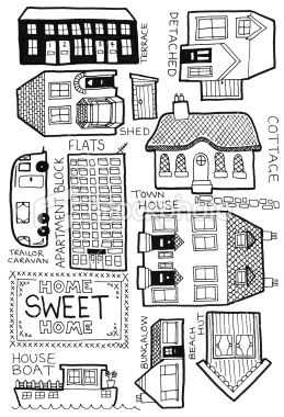 how to draw Home doodles | .~Doodled Art~. | Pinterest | Drawings ...
