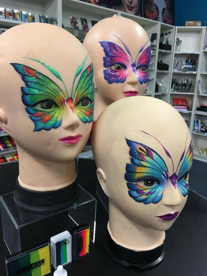 Amy Griggs Butterfly Designs Yuzler Makyaj Kostum