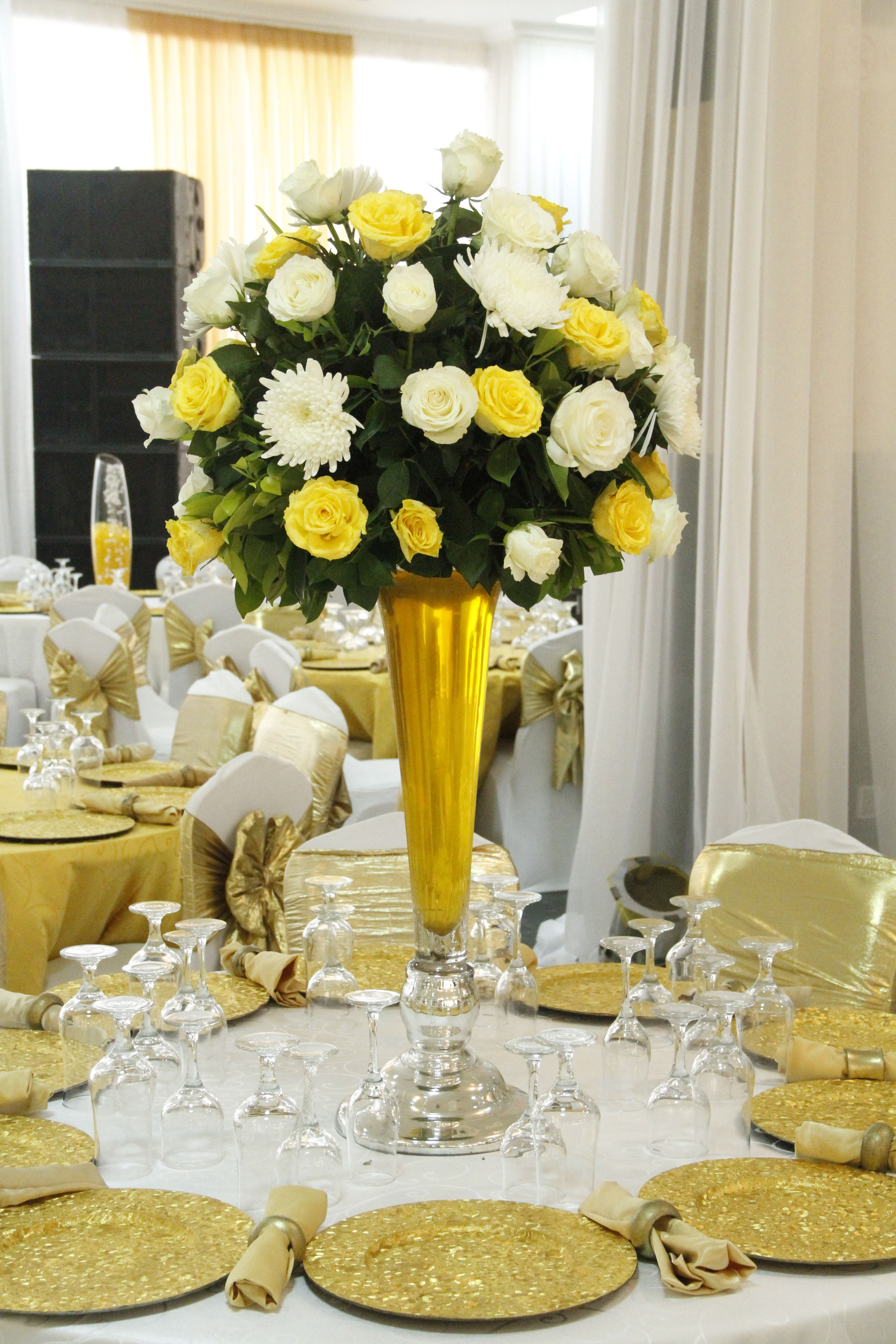 flowers centerpieces | 50th anniversary centerpieces, 50th ...