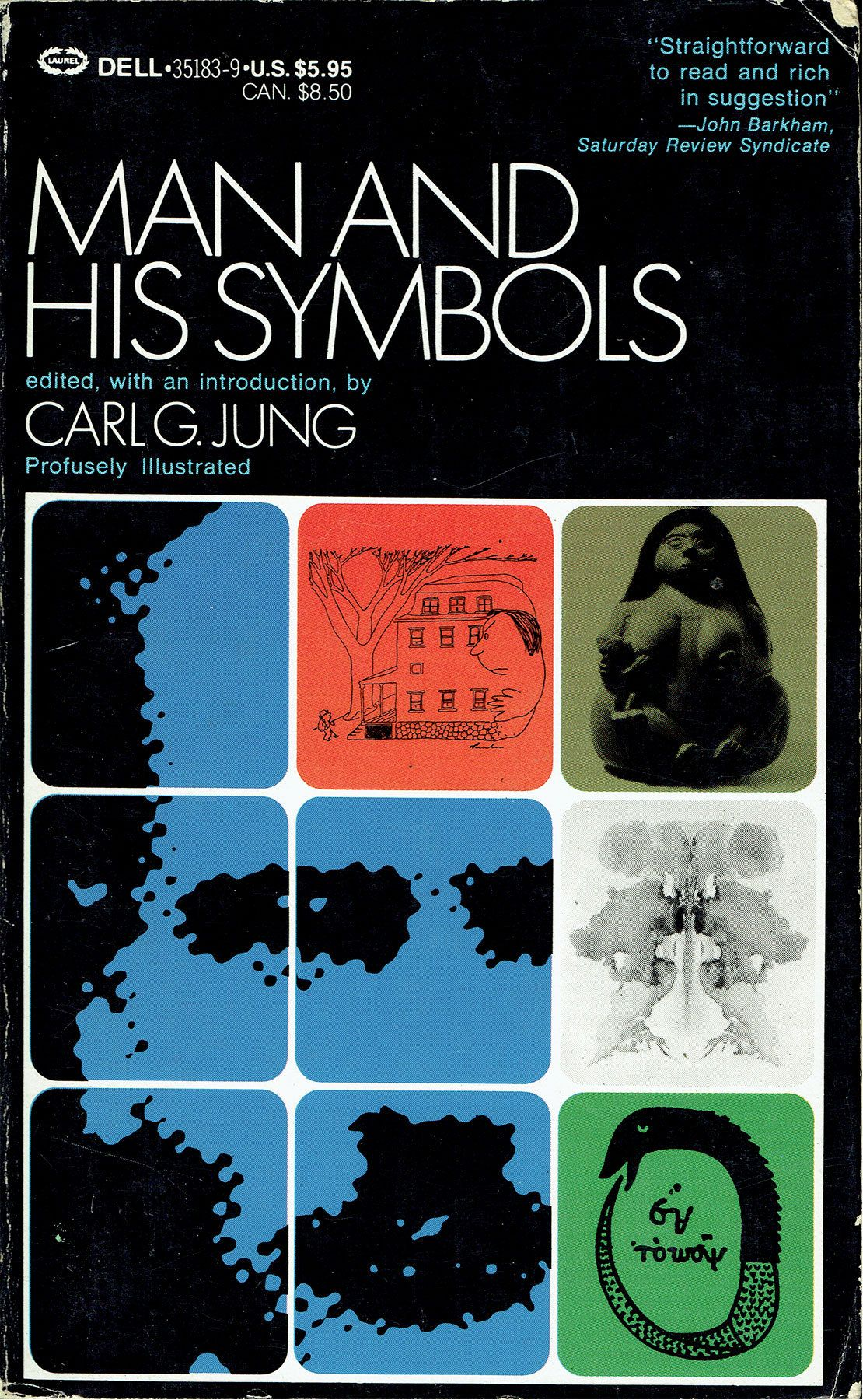 Man And His Symbols By Carl Jung New York Dell 1968 Cover