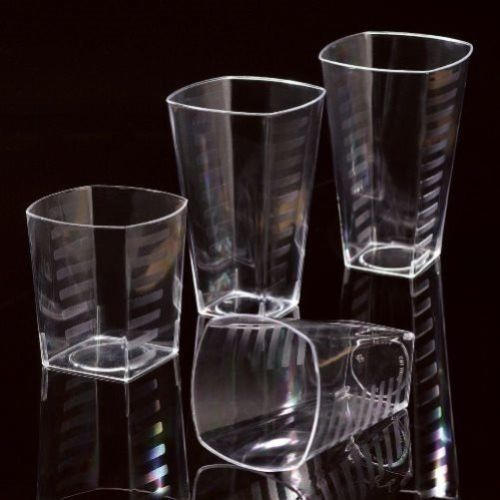 Awesome Disposable Plastic Square Shot Glasses / Tumblers / Wine Glass / Beer Cups  HDuty