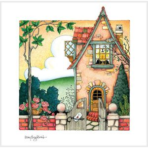 """""""Candle in the Window"""" Limited Edition Lithograph"""