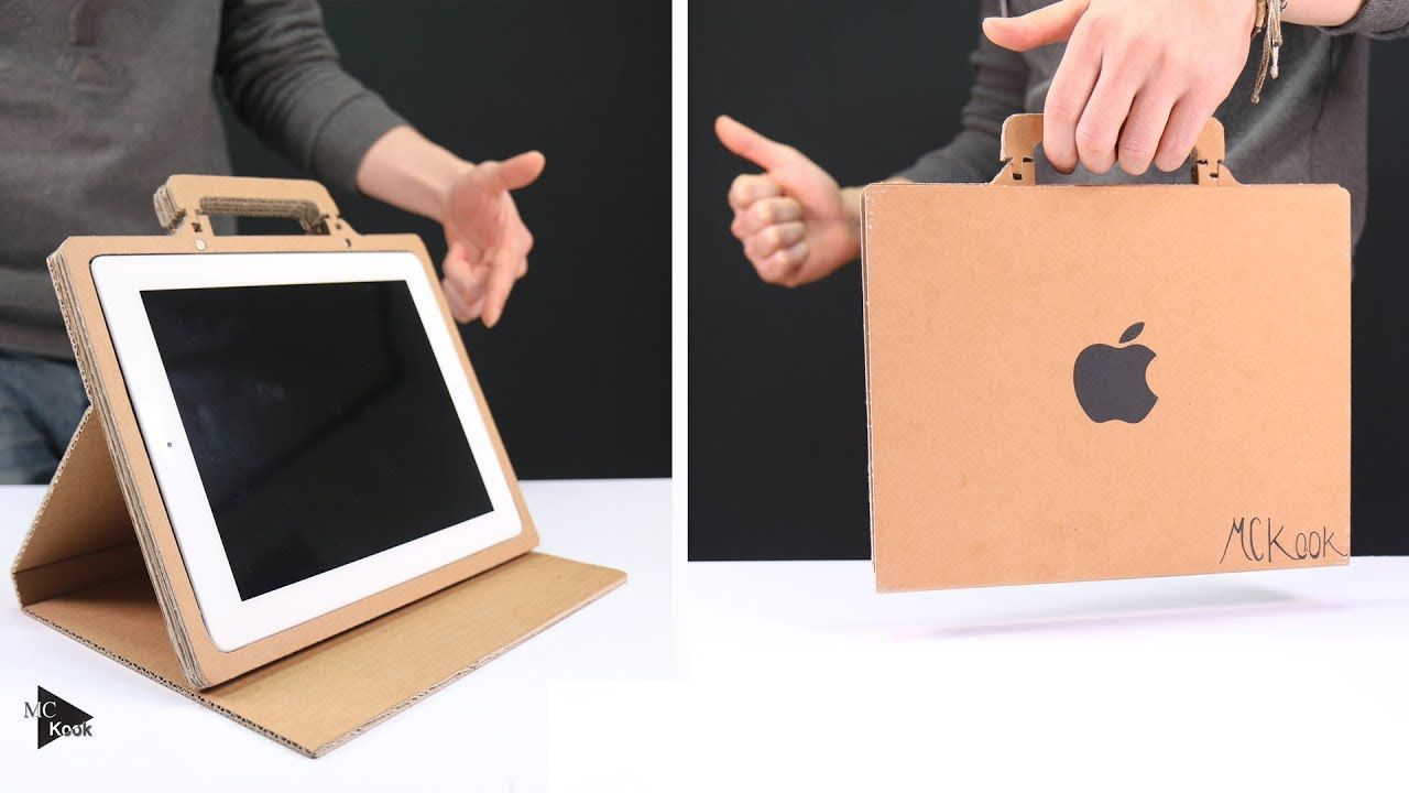 How to make simple tablet standcase from cardboard
