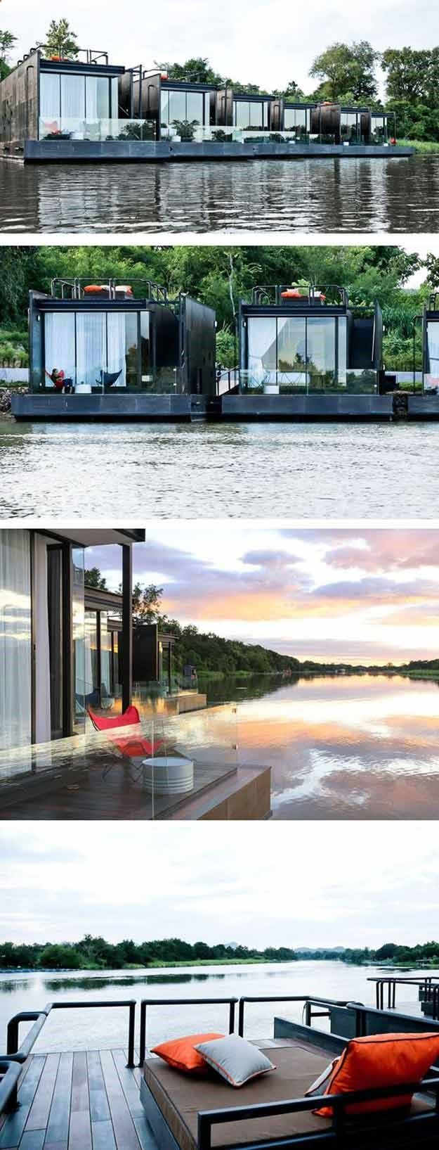 Floating holiday homes cool container homes boat plans