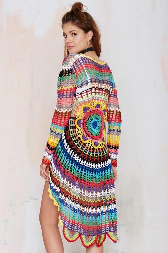 08f5935b8b1e UNIF Mandala Crochet Cardigan - Cardigans