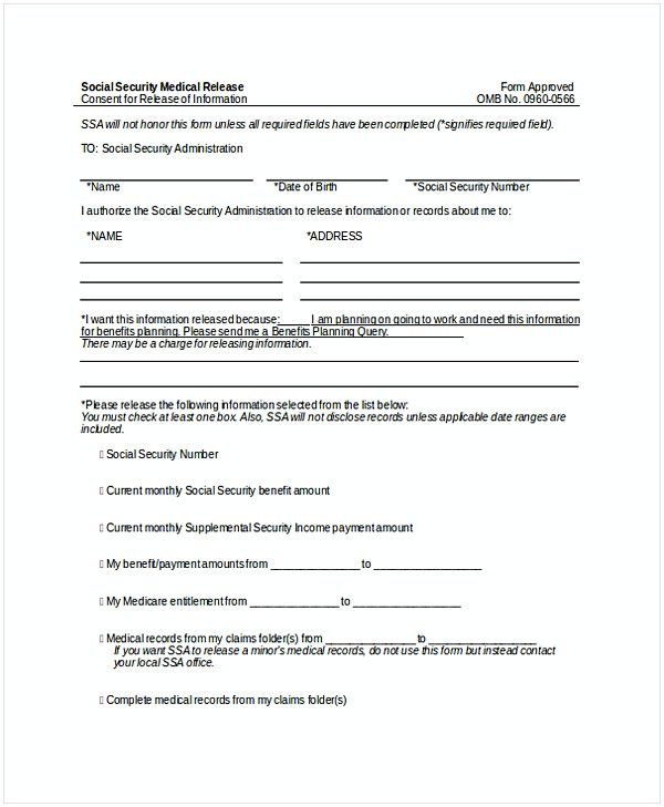 41 Get The Latest Template For Medical Release Form Here