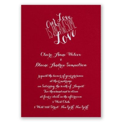 An Awesome Love - Red - Foil Invitation Wedding Ideas Red - invitation non formal