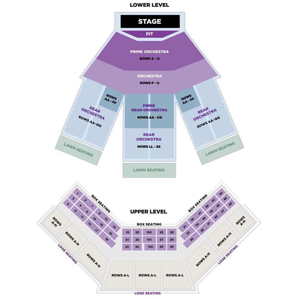Filene center seating chart also wolf trap pinterest rh