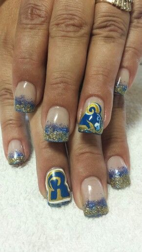 Pin By Doreen O Neil On Nails By Dannie Football Nail Designs Sports Nails Football Nails