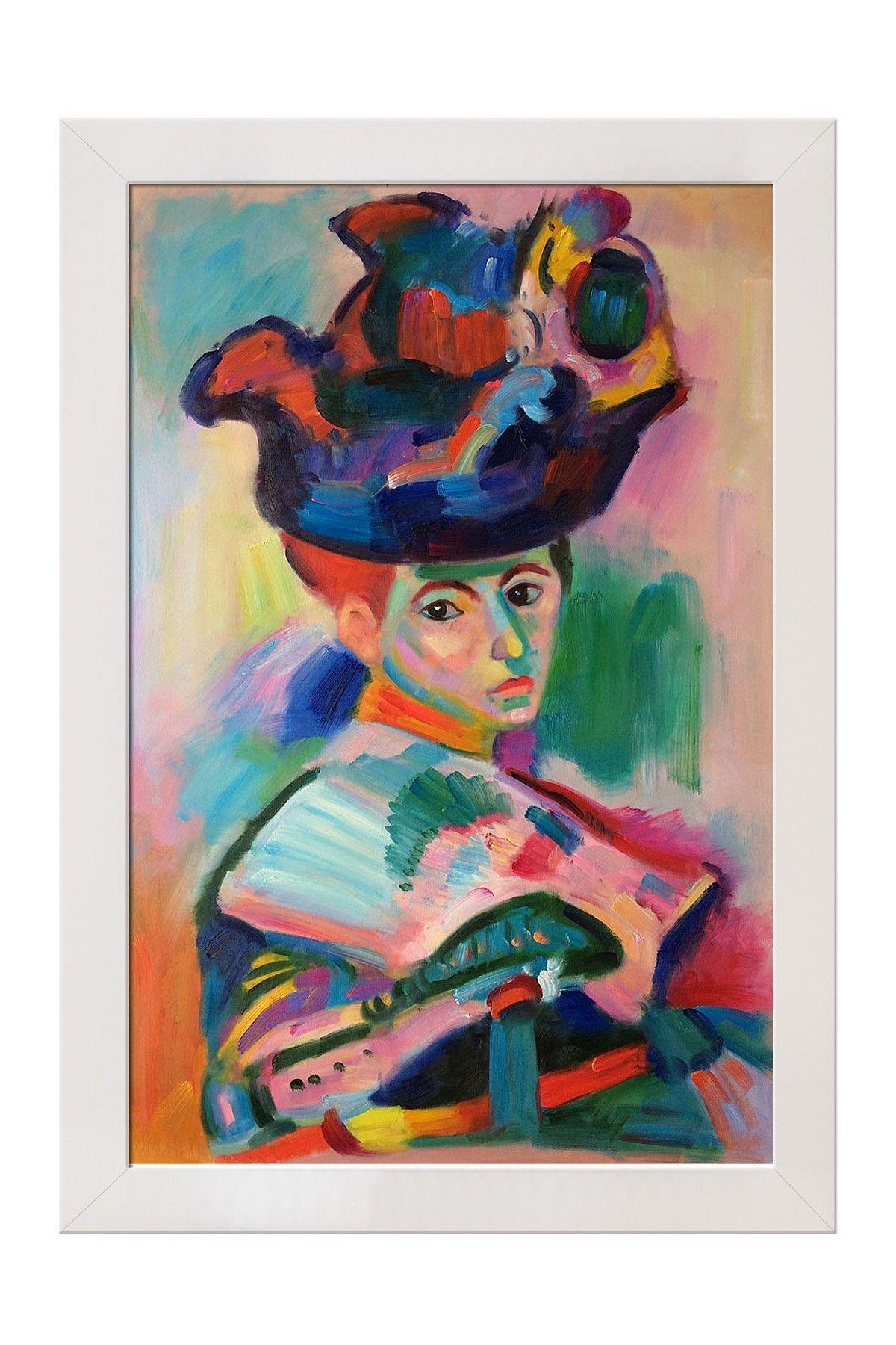 Woman with a Hat Framed Art | Art - Illustrations | Pinterest