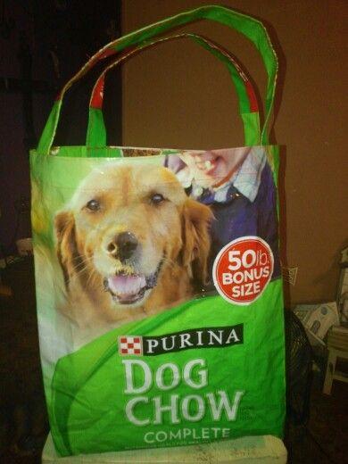 Dog Food Bag Made Into Tote Purina Dog Chow Purina Dogs