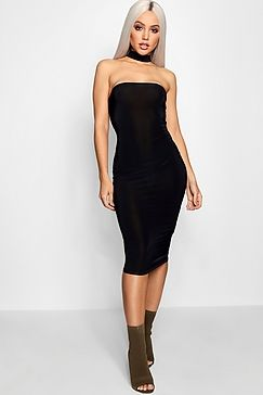 3f888c826e54 Charlotte Bandeau Choker Midi Dress | Boohoo | If Only in 2019 ...