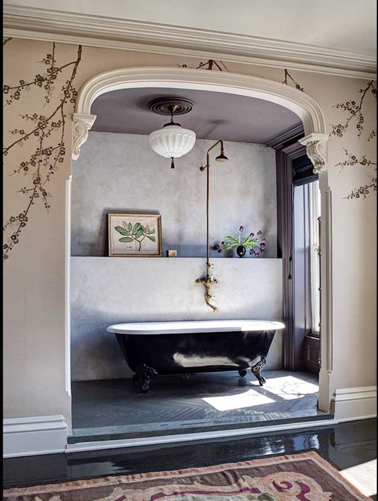DESIGNER CRUSH | Roman, Botanical decor and Tub shower combo