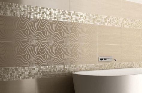 Moderne Lineare VorschlägeMosaike Als StreifenStandardformat - Bad fliesen vorschläge