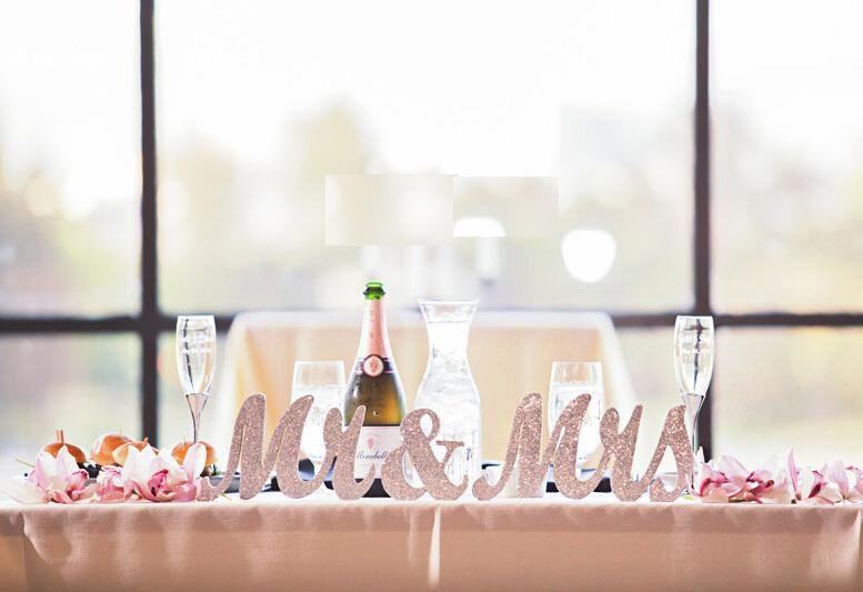 Wedding decorations card personalized mr mrs on wedding table wedding decorations card personalized mr mrs on wedding table car home and garden decoration white sliver golden photography props junglespirit Images