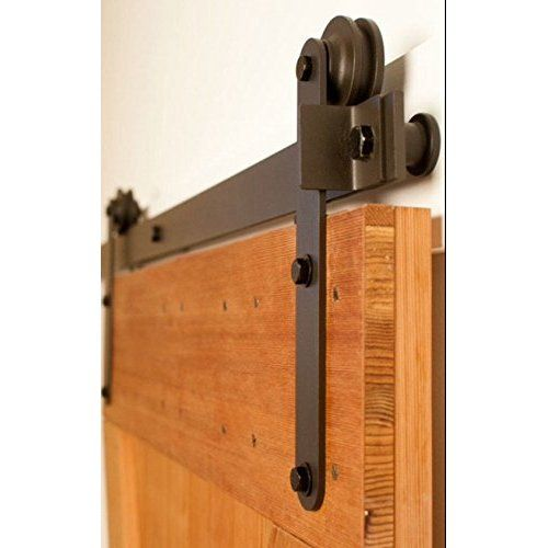 Unionline 8 Ft American Style Sliding Wood Barn Door Hardware