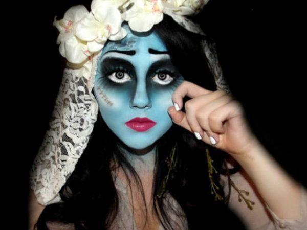 novia cadaver maquillaje