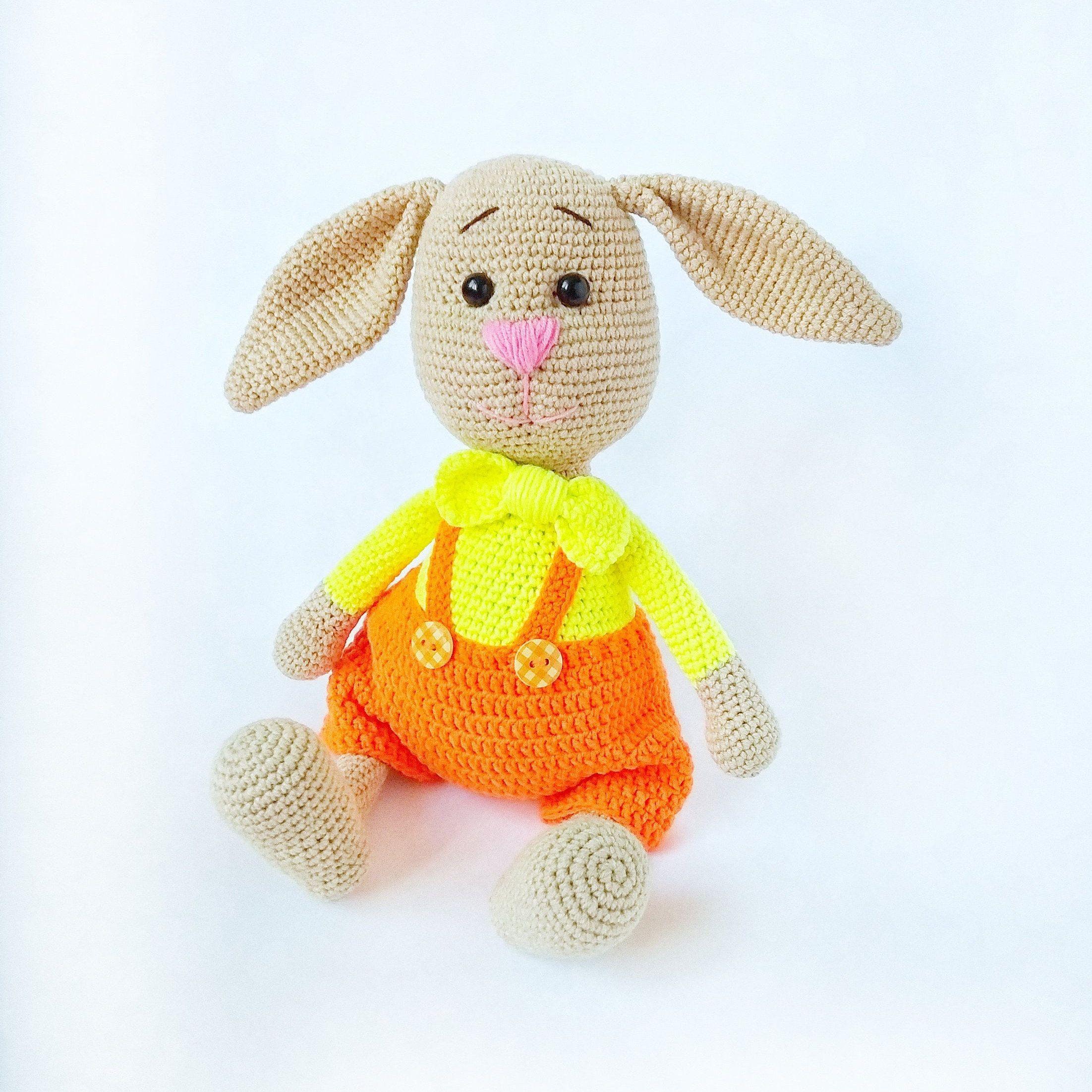 Cute Bunny Crochet bunny Crochet animals Toy amigurumi Handmade rabbit Crochet toy Easter decor Kids toy Rabbit toy Bunny girl Stuffed bunny